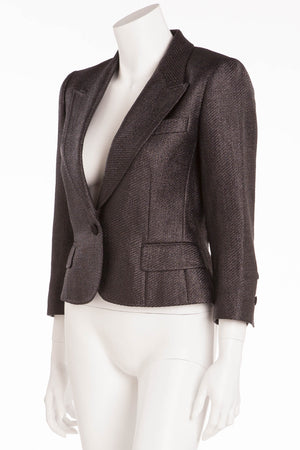 Dolce & Gabbana - Black  3/4 Sleeve Blazer - IT 42