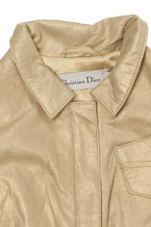 Christian Dior - Gold Brushed Lamb Leather Jacket - 4A