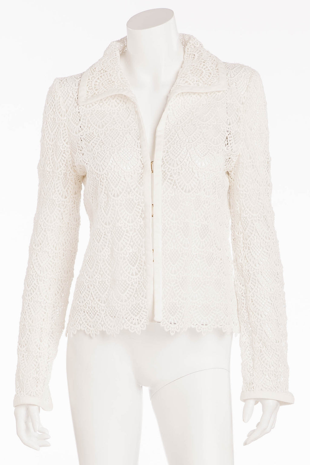 Valentino - White Lace  Jacket- US 8