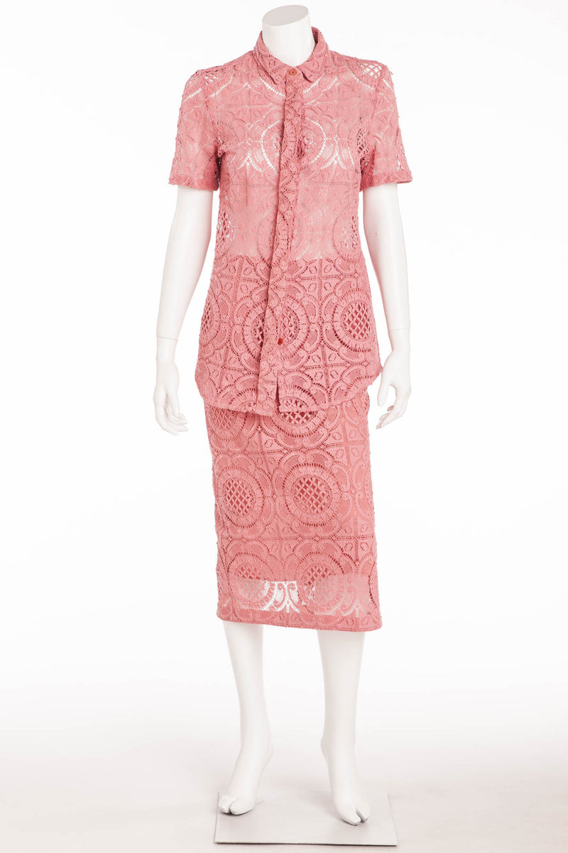 Burberry Prorsum - Editorial 2PC Pink