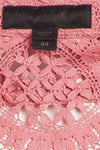 "Burberry Prorsum - Editorial 2PC Pink ""English Rose"" Short Sleeve Button Up Top & Skirt - IT 44"