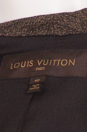 Louis Vuitton - Editorial, Black & Gold 2PC Skirt & Blazer - FR 40