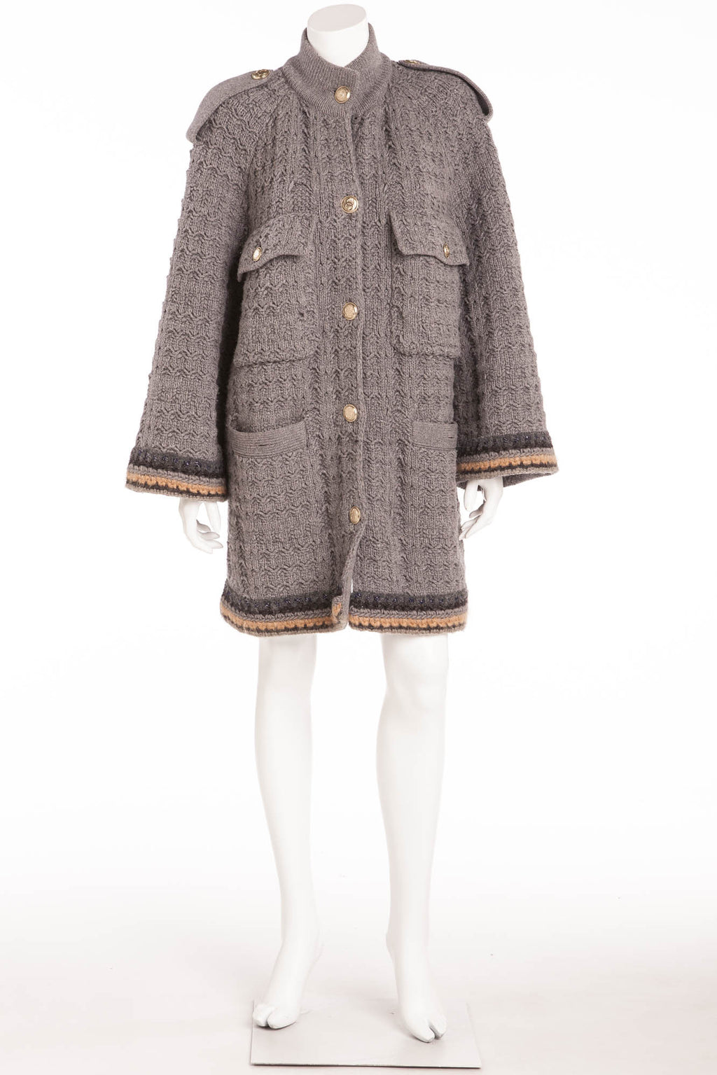 Chanel - Light Gray Long Sleeve Coat - FR 40
