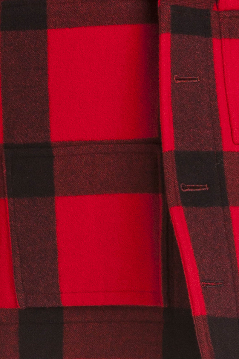 Ralph Lauren - Red & Black Plaid Cashmere Coat - US 4