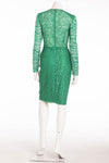 Nina Ricci - Green Long Sleeve Dentelle Lace Dress - FR 38