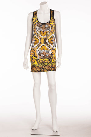 Philipp Plein - Tank Tiger Dress with Rhinestones -