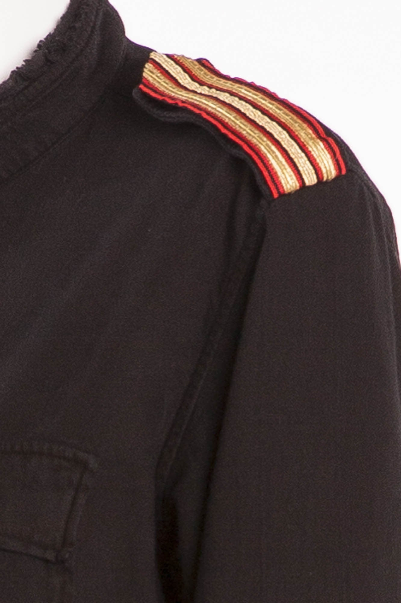 b0b4f974ede1d2 Balmain - Black Button Down Red and Gold Trimmed Shoulders - FR 40 ...