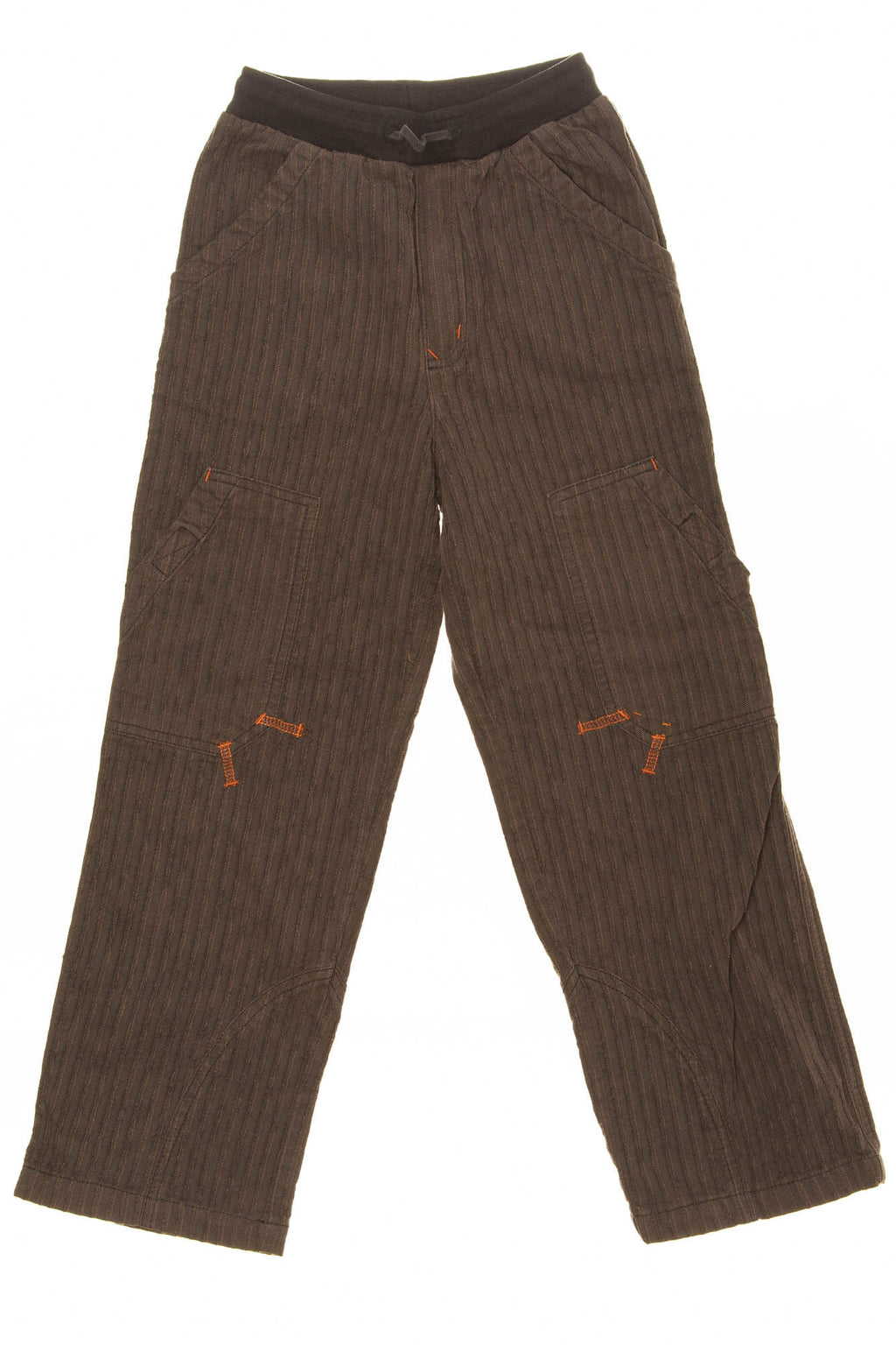 Catimini - Brown Striped Pants with Tie Waist - 8A