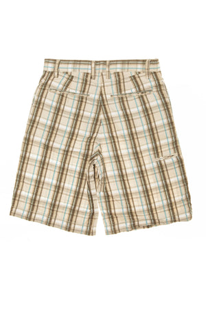 GapKids - Brown and Blue Plaid Shorts - 10