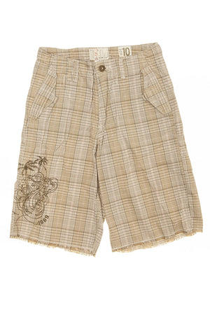 Gap Cargo - Brown Plaid Cargo Shorts - 10