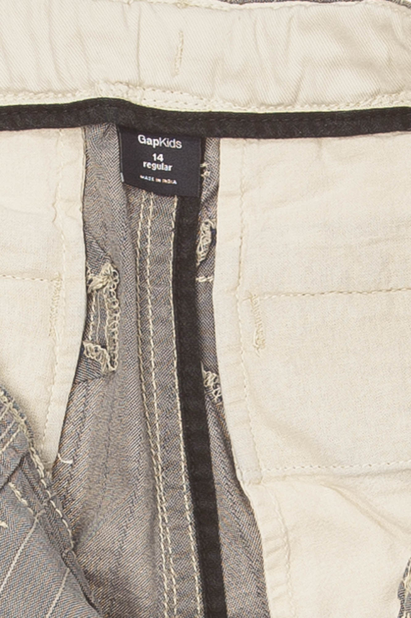 a87043b3b1 GapKids - Blue and White Striped Cargo Shorts - 14 – LUXHAVE