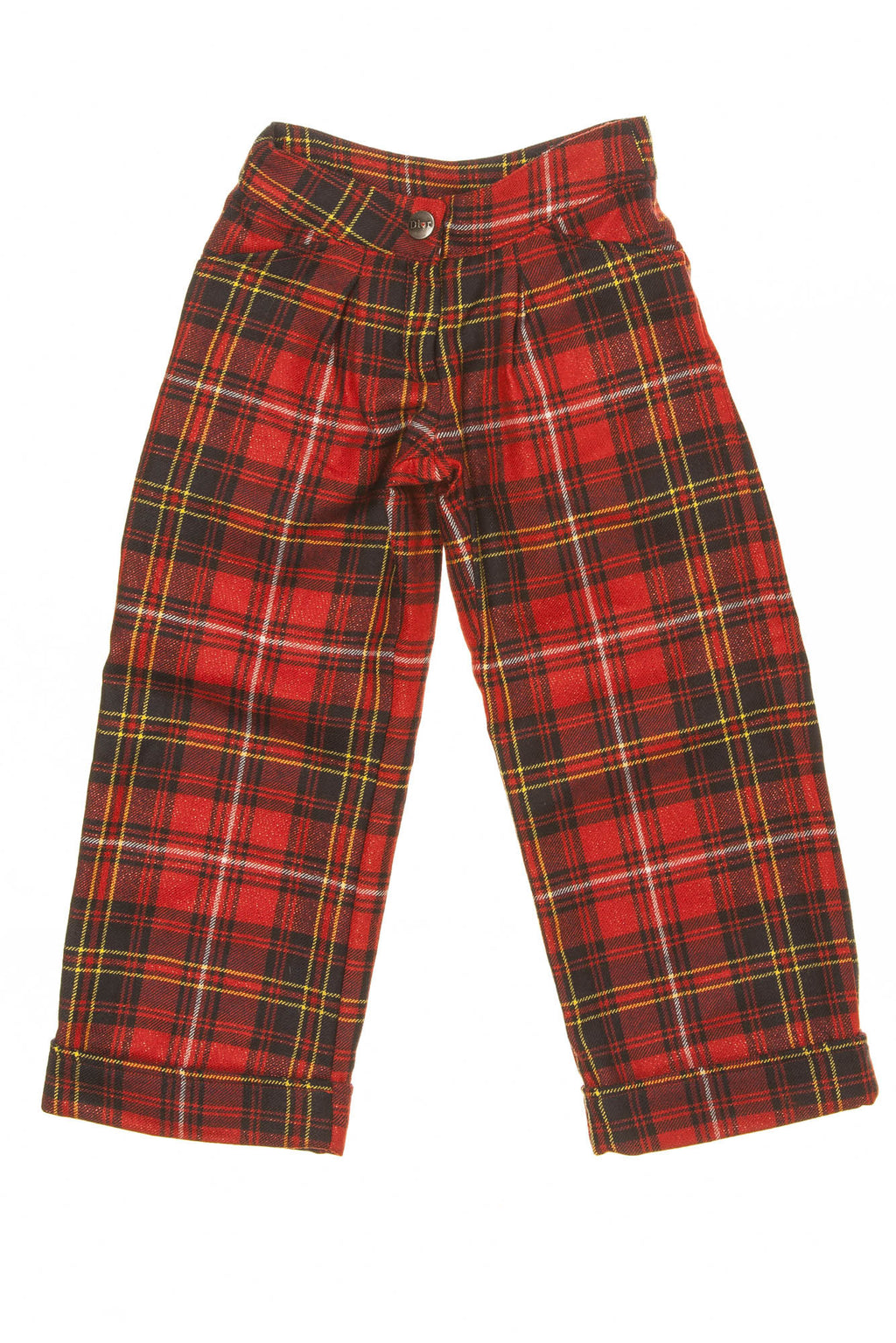Christian Dior - Red Plaid Pants - 4A