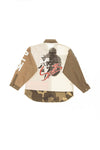 DJXS - Brown, White & Camo Long Sleeve Button Up - XS