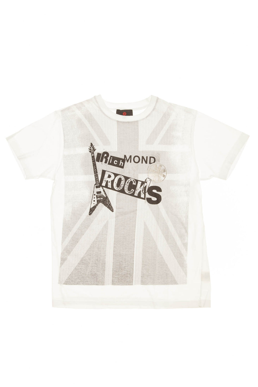 Richmond JR - White & Gray Short Sleeve Striped Shirt - 40