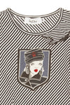Baby Dior - Black and White Striped Long Sleeve Shirt - 3A