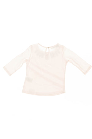 Christian Dior - Pink 3/4 Sleeve Shirt with Rhinestones - 4A