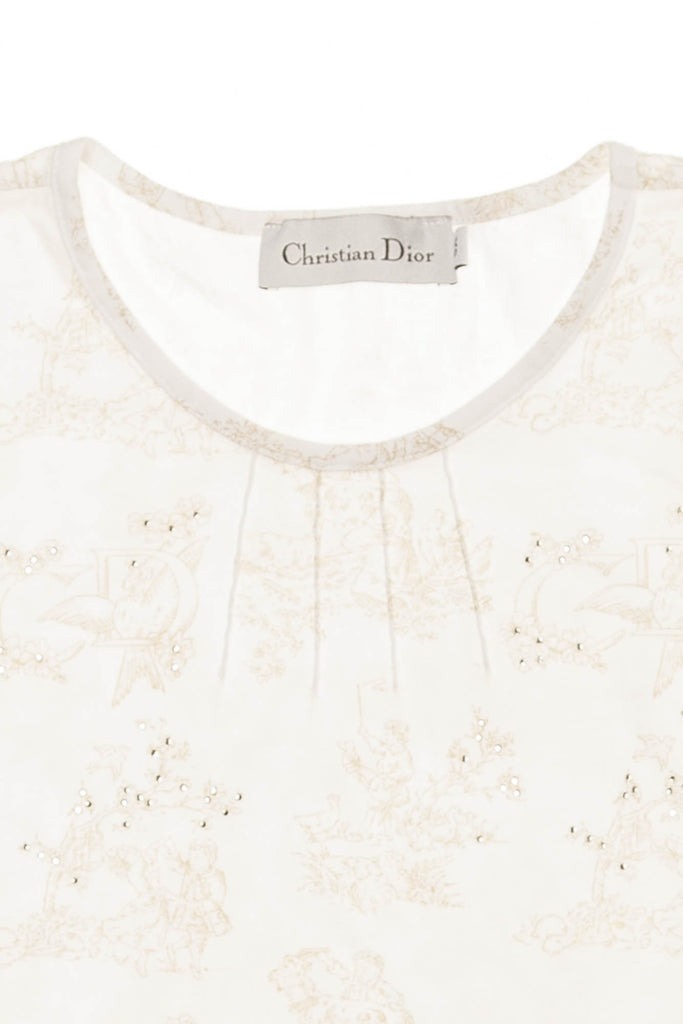 Christian dior white short sleeve top with flowers luxhave christian dior white short sleeve top with flowers mightylinksfo