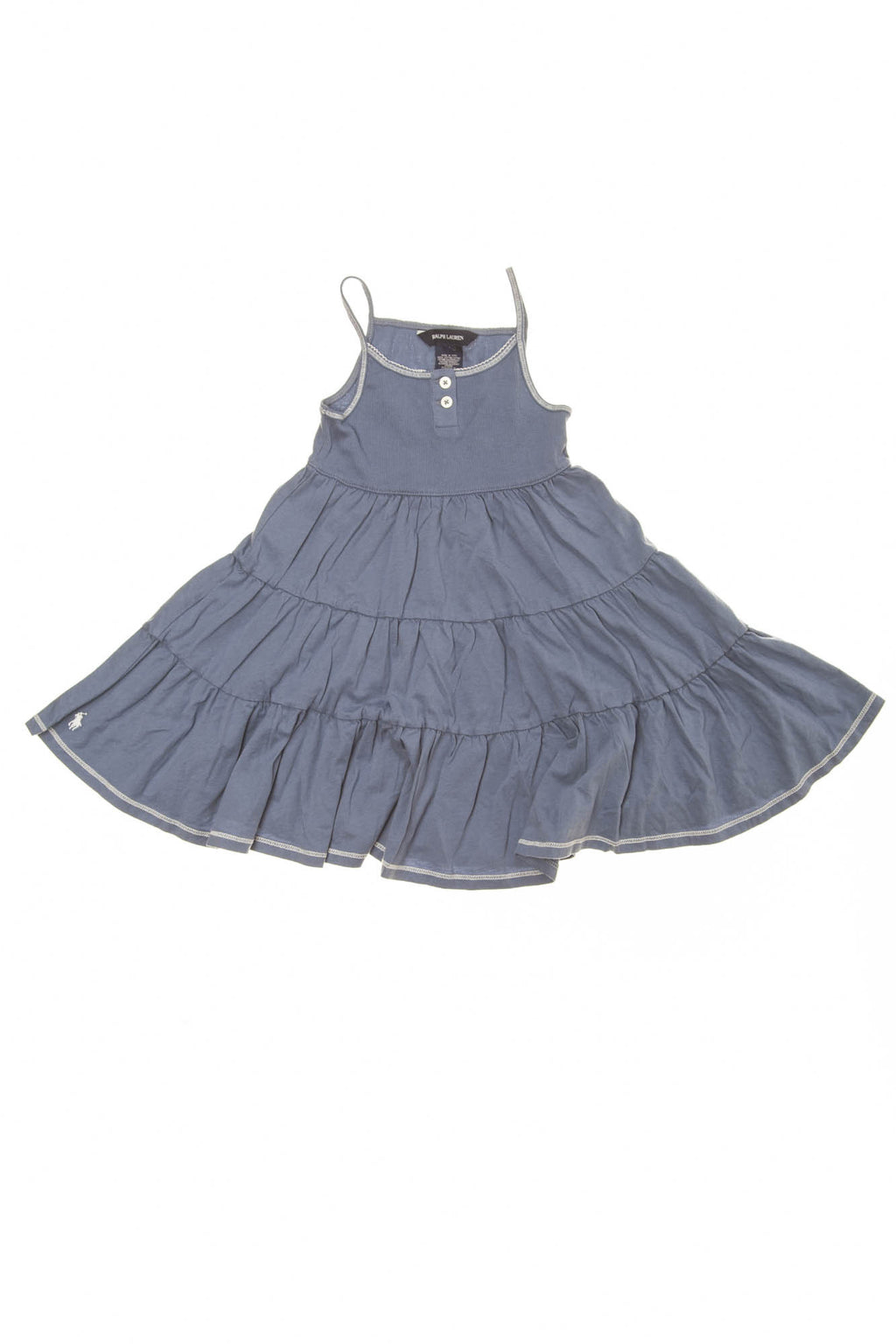 Ralph Lauren - Blue Spaghetti Strap Dress -