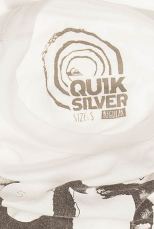 Quiksilver - White Short Sleeve Graphic T Shirt - S