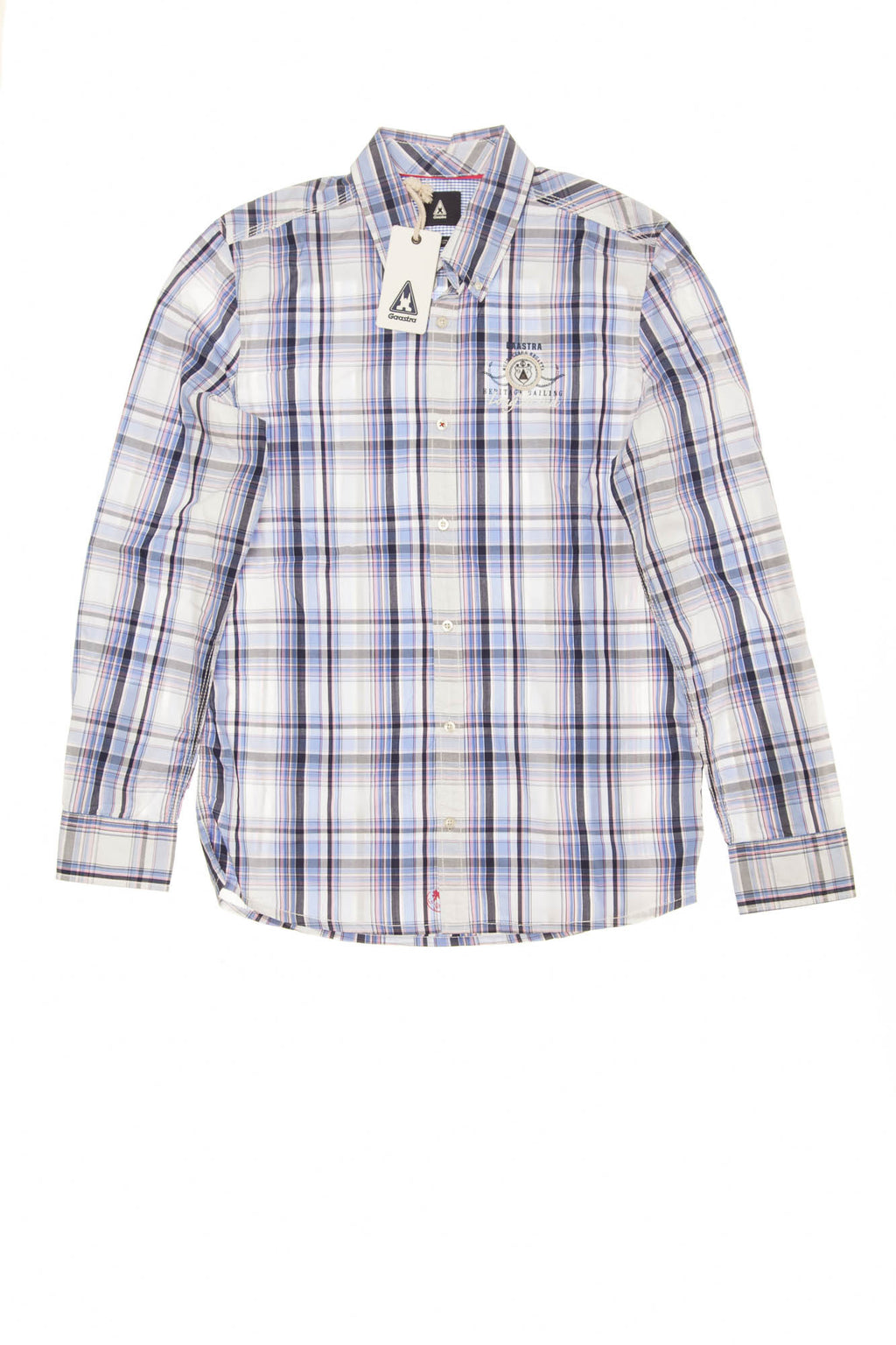 Gaastra - Blue Plaid Button Up Long Sleeve Dress Shirt -