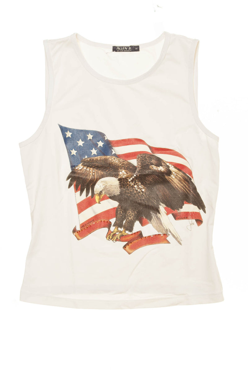 Allen B by Allen Schwartz - White Tank Top with Eagle - S