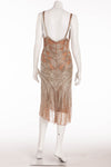 Roberto Cavalli - Brand New Beaded Tank Dress with Mauve Underlay - IT 40