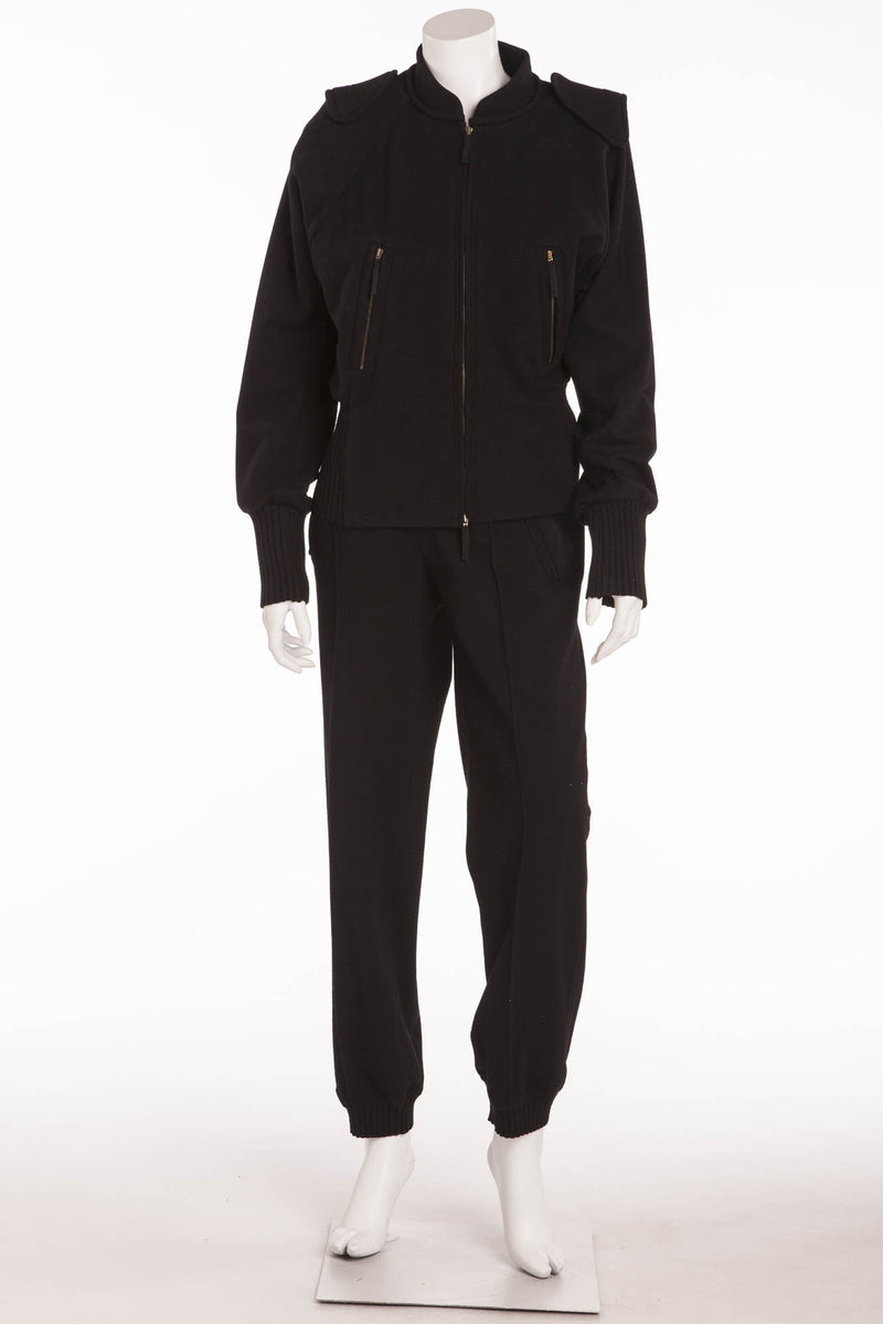 Sonia Rykiel - 2PC Wool Jacket & Jogging Style Pants - FR 38