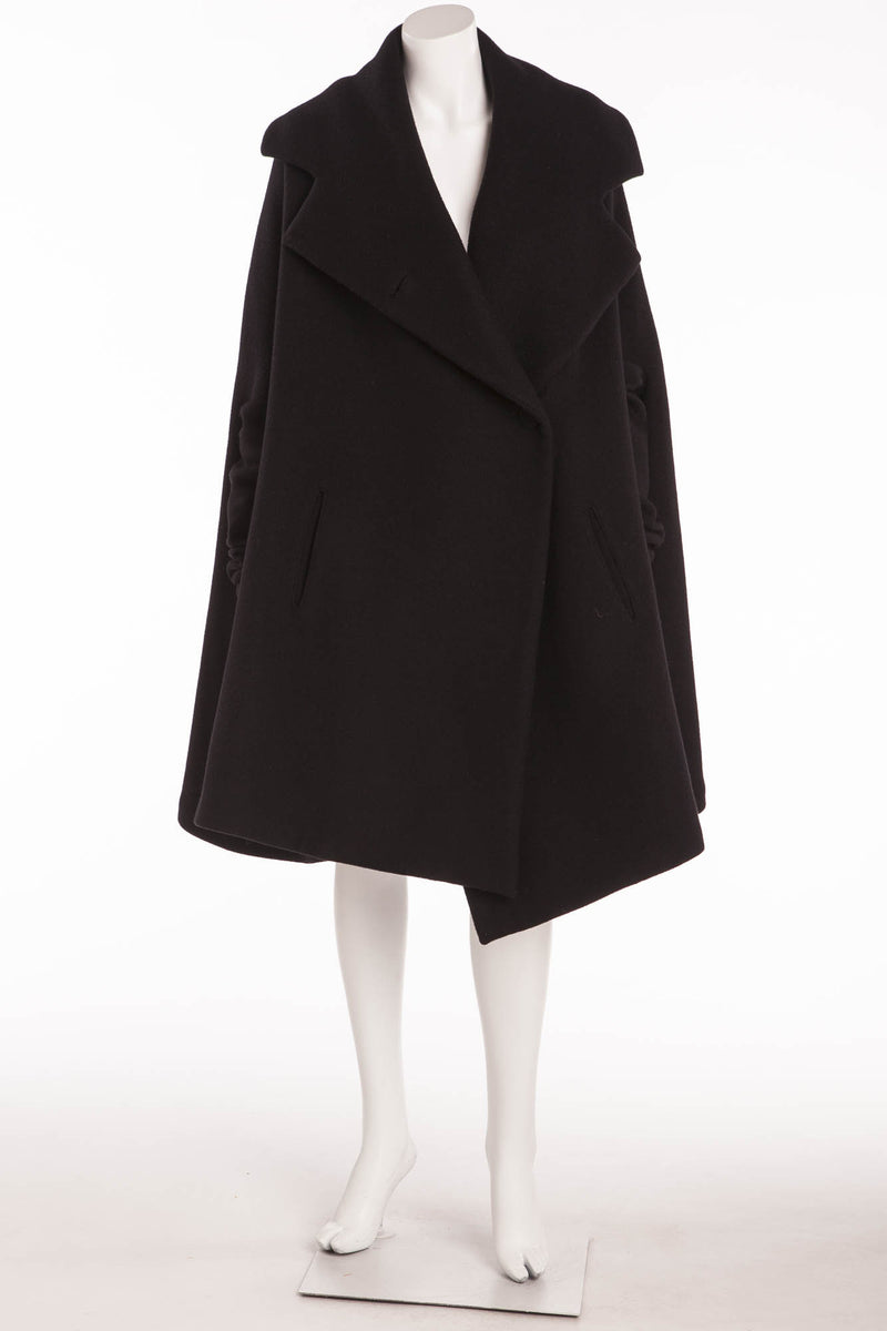 Sonia Rykiel - As Seen on the 2007 Runway Collection - Black Wool Coat - FR 38