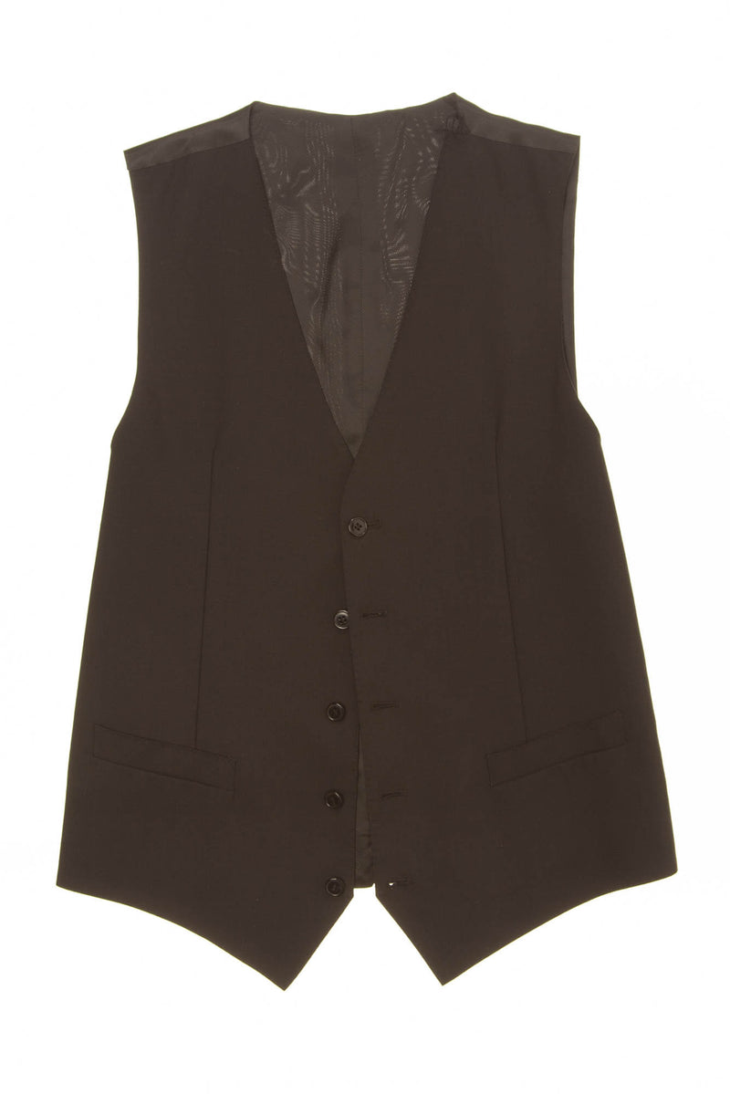 Dolce & Gabbana - Black Wool Button Up Vest - IT 48