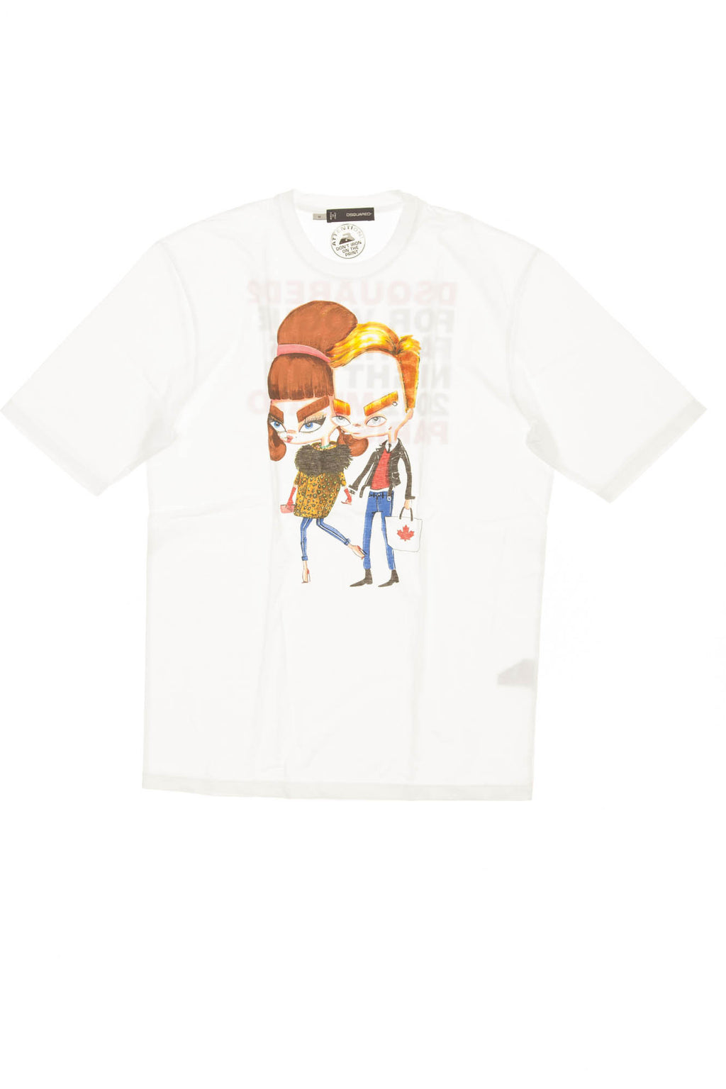 Dsquared2 - White Short Sleeve Cartoon Graphic T Shirt - M
