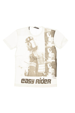 "Dolce & Gabbana - White Short Sleeve ""Easy Rider"" T Shirt - IT 48"