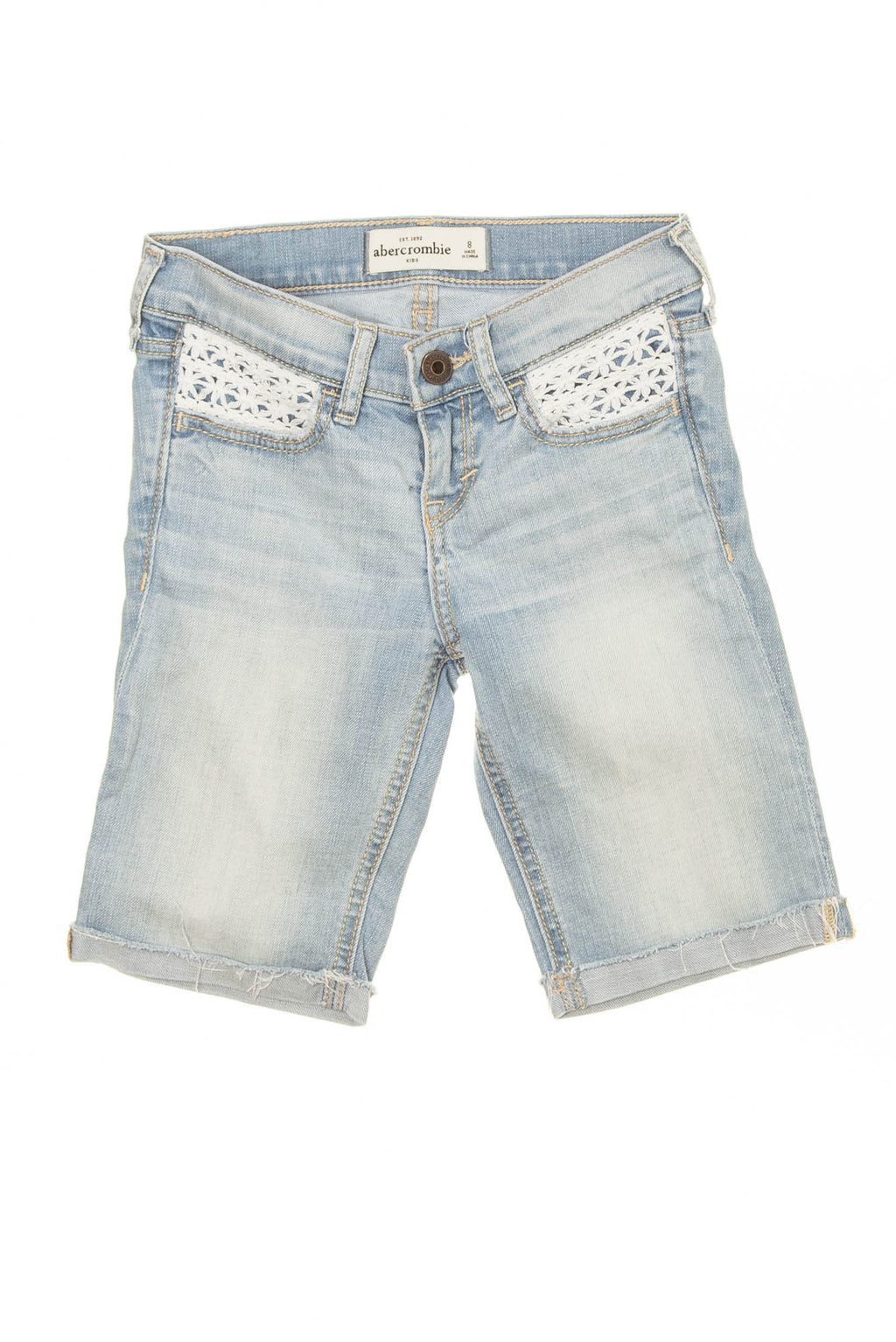 Abercrombie Kids - Light Wash Bermuda Shorts - 6X