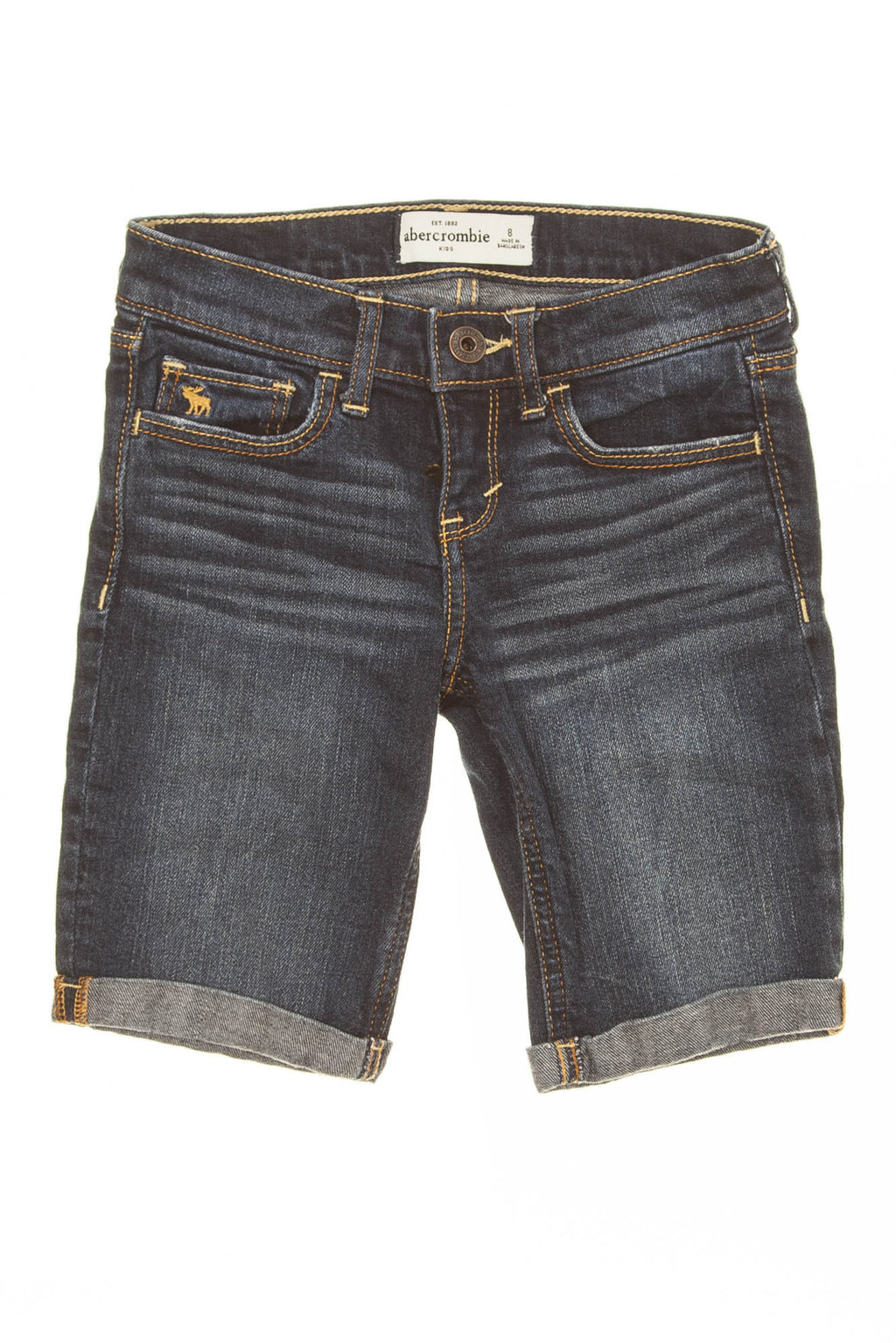 Abercrombie Kids - Dark Wash Bermuda Shorts - 8