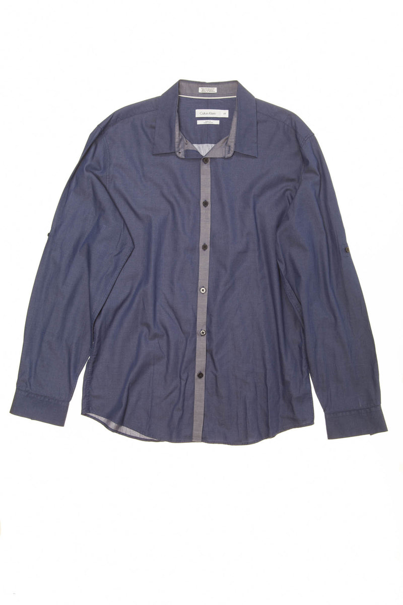 Calvin Klein - Dark Blue Long Sleeve Button Down - L