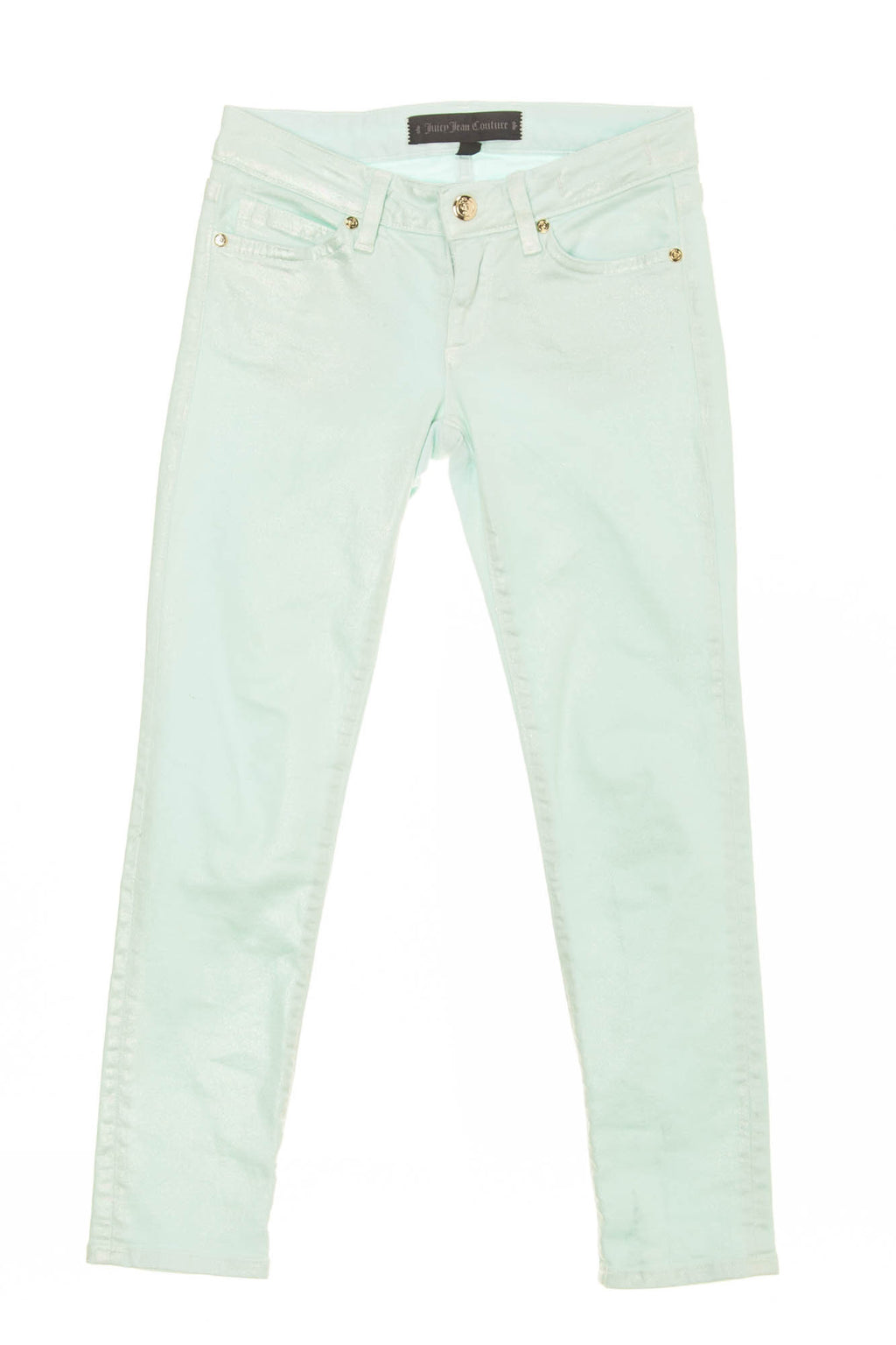 Juicy Jean Couture - Sea Foam Green Skinny Jeans - 6 Skinny