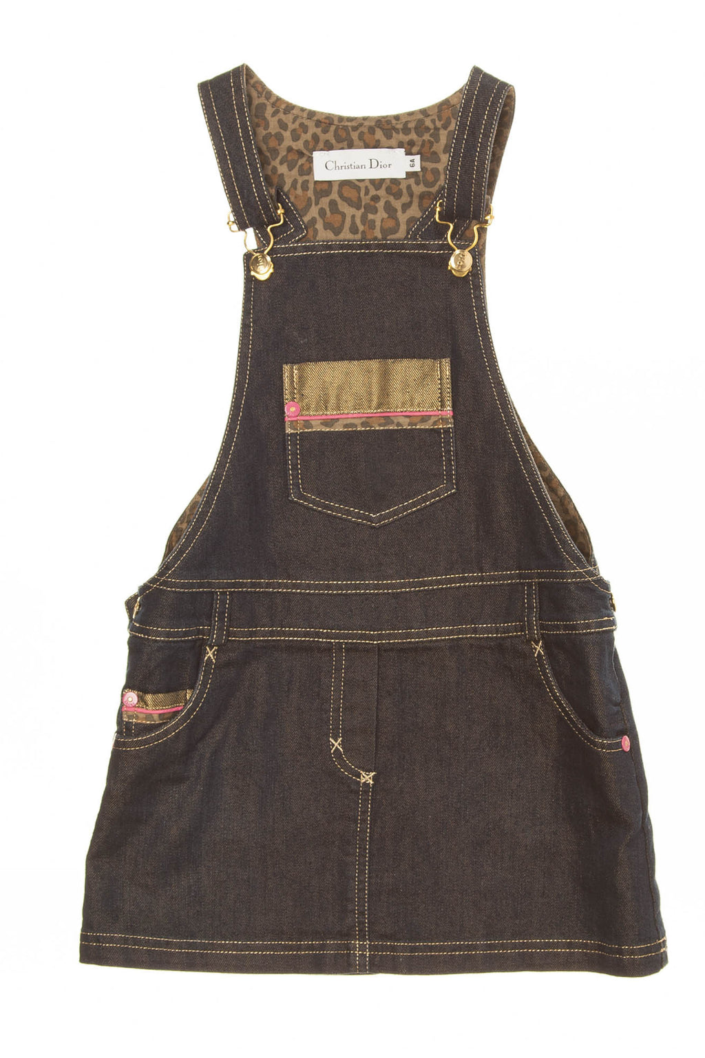 Christian Dior - Dark Blue Denim Overalls Dress - 6A