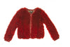 Dolce & Gabbana - Red Long Sleeve Fuzzy Jacket, IT 42