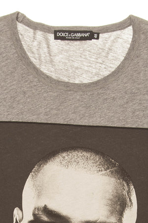 "Dolce & Gabbana - ""Mike Tyson"" Gray Graphic Tshirt - IT 48"
