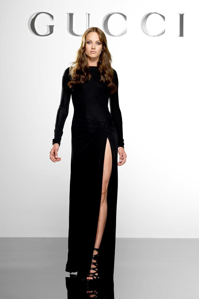 Gucci - Long Sleeve Black Backless Dress - IT 42