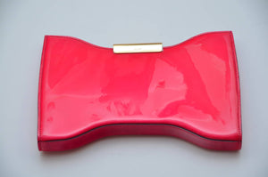 Original Alexander McQueen - Hot Pink Leather Clutch - One Size