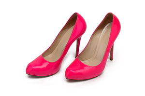 Original Alexander McQueen - Hot Pink Heart Shaped Toe High Heels - Italian 38 1/2