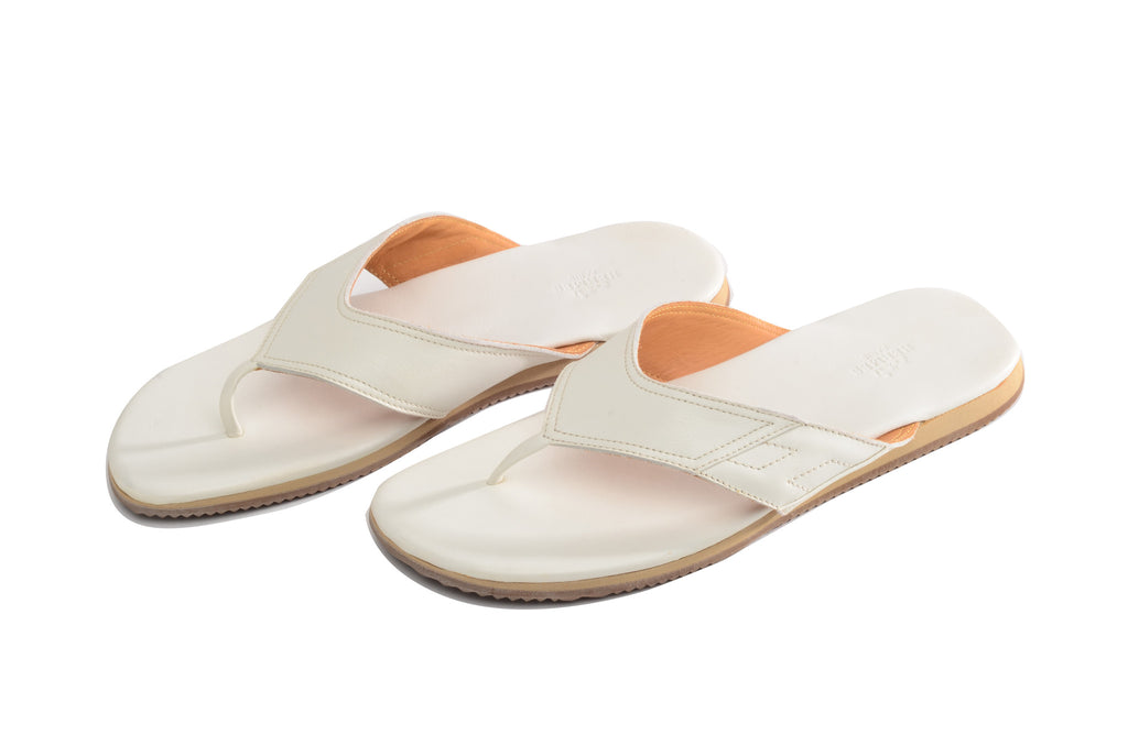 Hermes - Brand New in Box White Mens Flip Flop - IT 42 1/2