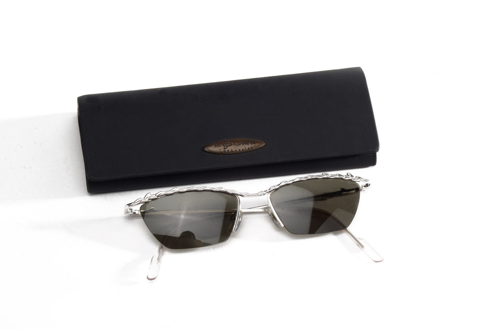 Koure - Silver Framed Sunglasses - One Size