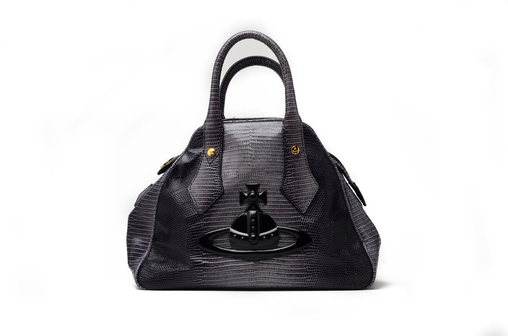 Vivienne Westwood - Gray and Black Zip Tote with Handles -