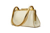 Dolce & Gabbana - White Patent Leather & Gold Purse