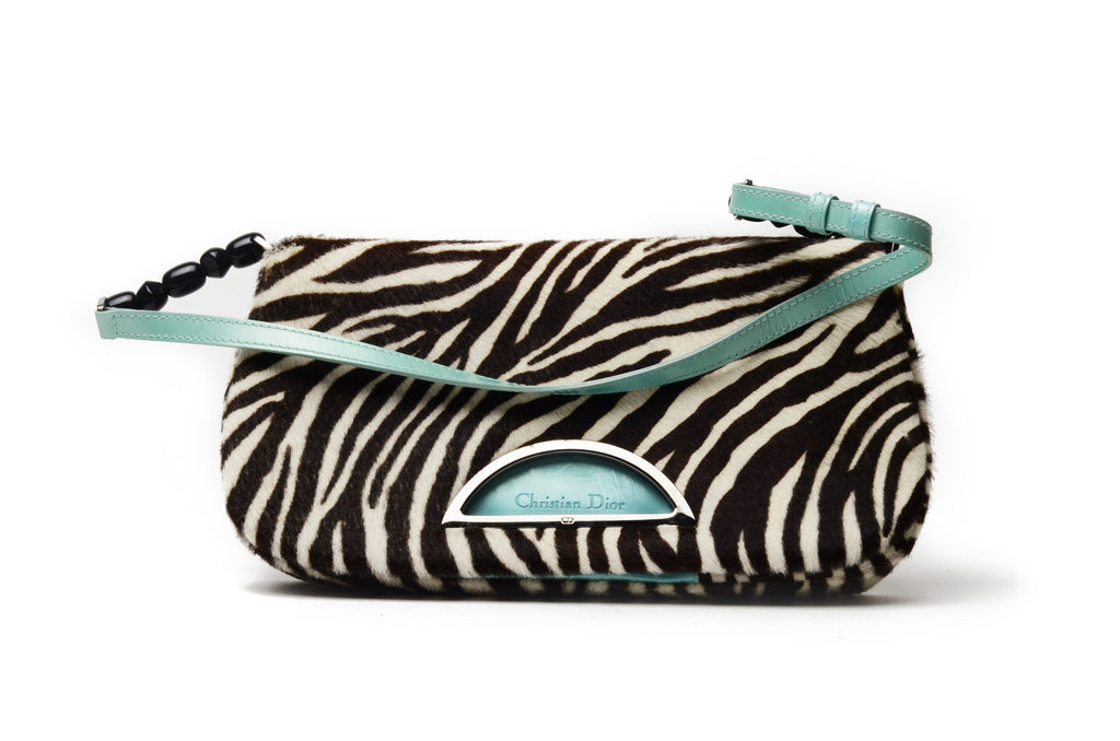 John Galliano for Christian Dior - Zebra Print Pony Hair HandBag