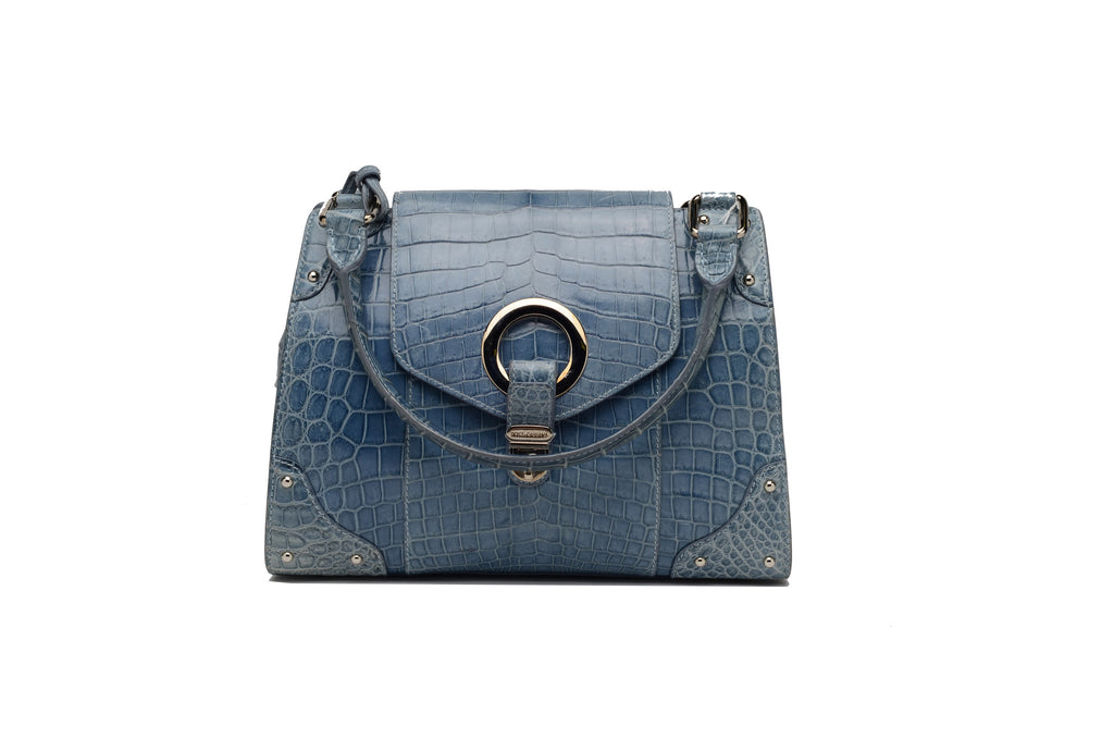 Dolce & Gabbana - Blue Crocodile Bag -