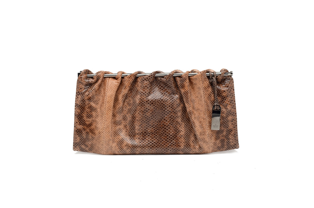 Iconic Tom Ford for Gucci - Multi Dusty Rose and Brown Lizard Skin Clutch - One Size