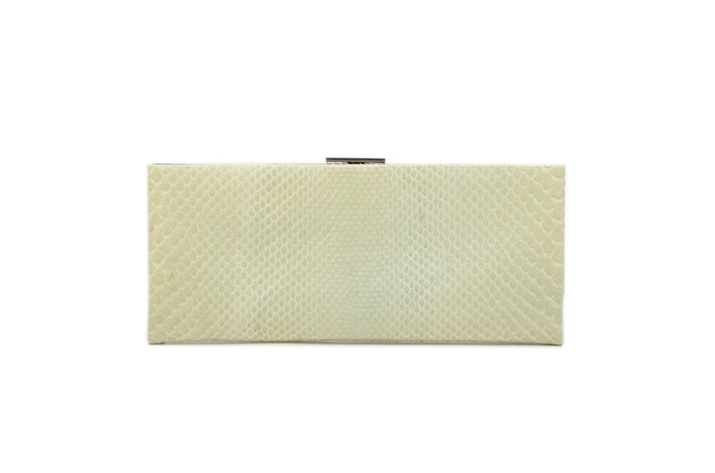 Calvin Klein - Mint Green and Blue Snakeskin Clutch