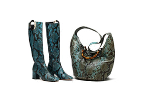 Iconic Tom Ford For Gucci  - Blue Python Bucket Bag -